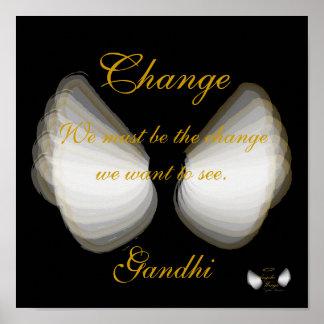 Cambie, el poster de la cita de Gandhi, - personal Póster