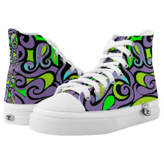 Cambie el remolino retro raro del color en púrpura zapatillas