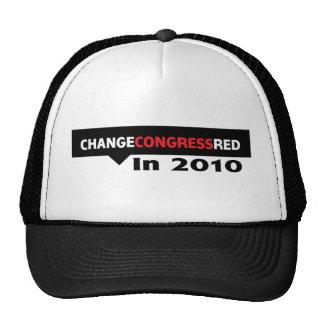 Cambie el rojo del congreso en 2010 gorros