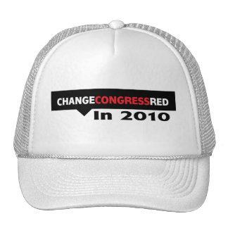Cambie el rojo del congreso en 2010 gorras de camionero