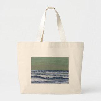 Cambie en el paisaje marino de la tormenta de las  bolsa de mano