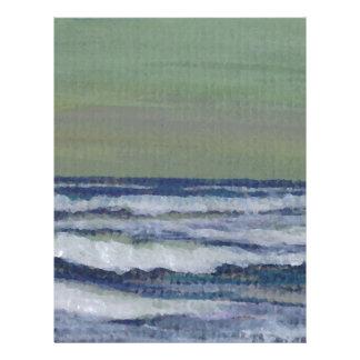 Cambie en el paisaje marino de la tormenta de las plantillas de membrete