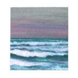 Cambie en el paisaje marino de las olas oceánicas  blocs de papel