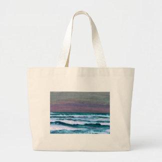 Cambie en el paisaje marino de las olas oceánicas  bolsas de mano