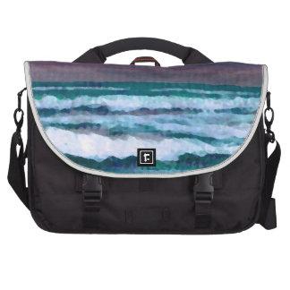 Cambie en el paisaje marino de las olas oceánicas  bolsas de portátil