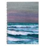 Cambie en el paisaje marino de las olas oceánicas  cuaderno