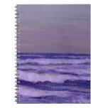 Cambie en el paisaje marino de las olas oceánicas  cuadernos
