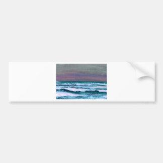 Cambie en el paisaje marino de las olas oceánicas pegatina para auto