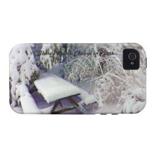 Cambie en los planes mesa de picnic nevada, pinos iPhone 4 carcasa