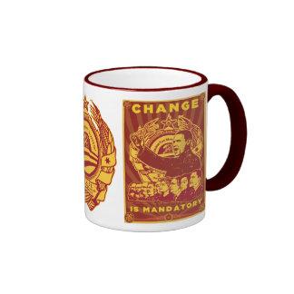¡Cambie es obligatorio! Camarada Obama Spoof Tazas De Café