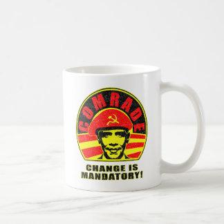 Cambie es obligatorio taza de café