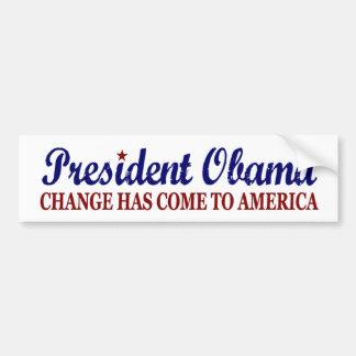 Cambie ha venido a América (Obama) Pegatina Para Auto