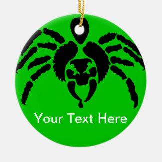 Cambie la araña del color adorno redondo de cerámica