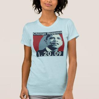 Cambie la camiseta de la mujer de Obama