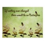 Cambie la cita de la mariposa tarjetas postales