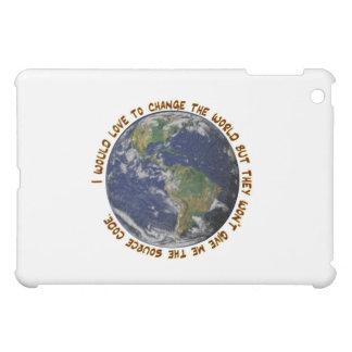 Cambie la cubierta del mundo IPAD