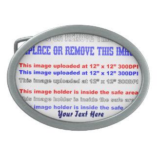 Cambie la imagen o suprima la recarga del texto hebilla de cinturón oval