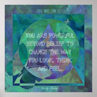 Cambie la manera que usted mira, piense y sienta póster