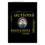 Cambie las acciones y las reacciones felicitación