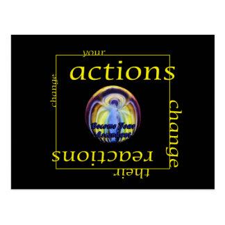 Cambie las acciones y las reacciones tarjetas postales