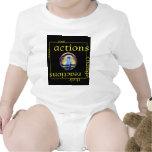 Cambie las acciones y las reacciones traje de bebé
