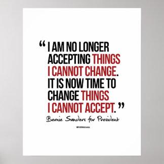Cambie las cosas que no puedo aceptar póster