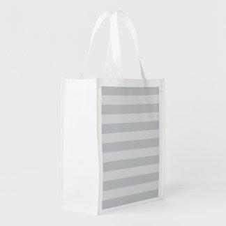 Cambie las rayas grises a cualquier personalizar bolsa para la compra