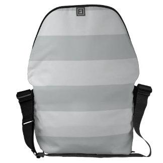 Cambie las rayas grises a cualquier personalizar bolsas de mensajeria