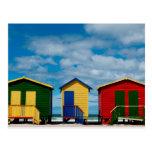Cambie los cuartos. Playa de Muizenberg, Cape Town Postal