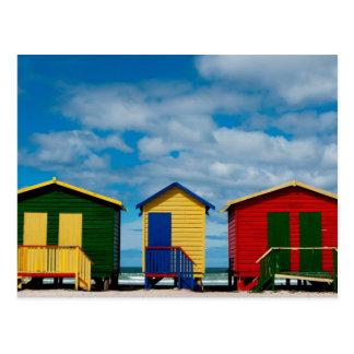 Cambie los cuartos. Playa de Muizenberg, Cape Town Tarjeta Postal