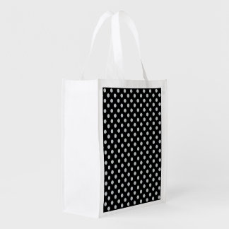 Cambie los lunares grises cualquier personalizar bolsas reutilizables