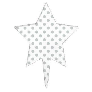 Cambie los lunares grises cualquier personalizar decoraciones para tartas