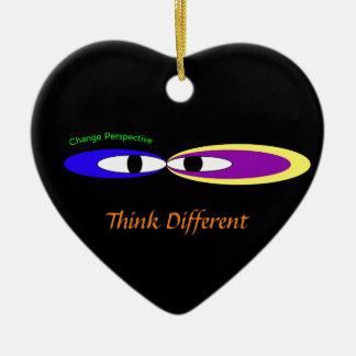 'Cambie los ojos de la perspectiva Adorno De Cerámica En Forma De Corazón