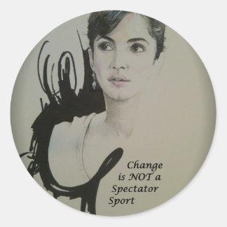 Cambie no es Sport.jpg espectador Pegatina Redonda