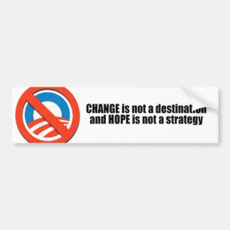 Cambie no es un destino pegatina de parachoque