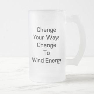 Cambie su cambio de las maneras a la energía eólic tazas de café