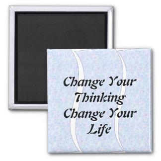 Cambie su cambio de pensamiento su imán de la vida