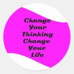 Cambie su cambio de pensamiento su vida pegatinas