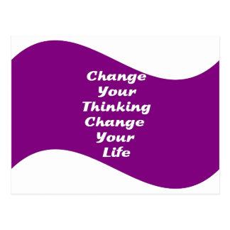 Cambie su cambio de pensamiento su vida postal