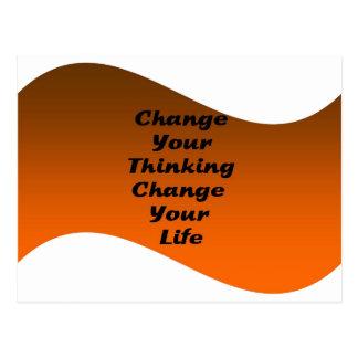 Cambie su cambio de pensamiento su vida postales