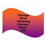 Cambie su cambio de pensamiento su vida tarjetas postales