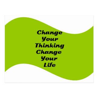 Cambie su cambio de pensamiento su vida tarjeta postal