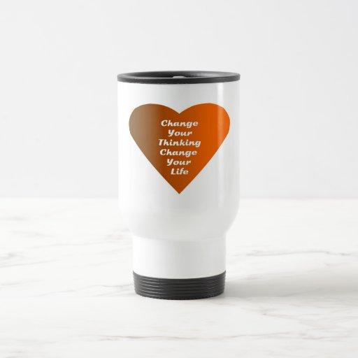 Cambie su cambio de pensamiento su vida taza de café