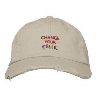 Cambie su piensan el gorra gorras bordadas