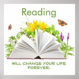 Cambie su vida con el poster de la lectura