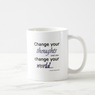 Cambie sus pensamientos taza de café