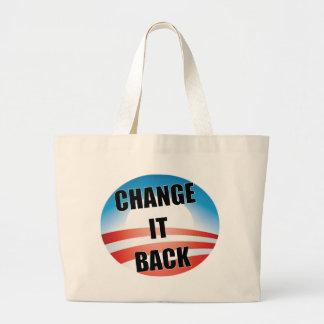 Cambíelo detrás bolsas