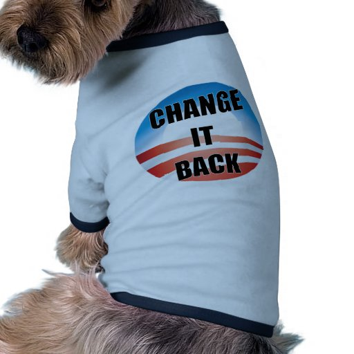 Cambíelo detrás camisa de perro
