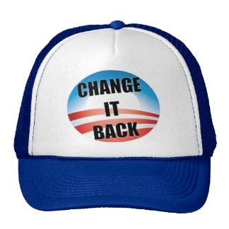 Cambíelo detrás gorra