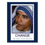Cambíenos no puede incluso creer tarjetas postales